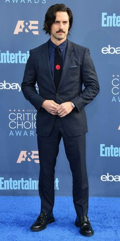 All the Glam Red Carpet Looks from the Critics' Choice Awards - Milo Ventimiglia from InStyle.com
