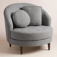 One Of My Favorite Discoveries At WorldMarket.com: Gray Seren Half Moon  Ottoman | Home Ideas | Pinterest | Ottomans, Upholstery And Stools