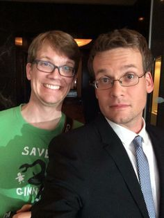Hank and John Green: Two of my favorite people getting ready for the TFIOS premiere.