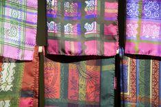 Valance Curtains, Quilts, Blanket, Home Decor, Bold Colors, Vibrant Colors, Cotton Textile, Dirndl, Scarves