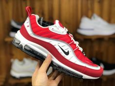 huge discount 61962 d5574 Nike Air Max 98 Gym Red White Black Gym Red Reflect Silver AH6799-101-3