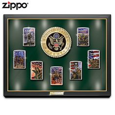 United States Army: Defenders Of Freedom Zippo® Lighter Collection Army Motto, Zippo Limited Edition, Zippo Collection, Bradford Exchange, Star Logo, Zippo Lighter, United States Army, Auction Items, Us Army