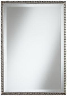 "Uttermost Sherise Beaded 31"" High Rectangular Wall Mirror -"