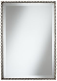 "Uttermost Sherise Beaded 31"" High Rectangular Wall Mirror -"