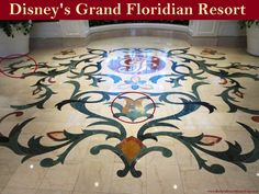 Disney's Grand Floridian Resort - Pluto and Goofy have been worked into the marble floor inlay in the lobby at Disney's Grand Floridian Resort.  For more resort photos, see: http://www.buildabettermousetrip.com/disneys-grand-floridian   #Pluto #Goofy  #GrandFloridian #Disneyworld #WDW