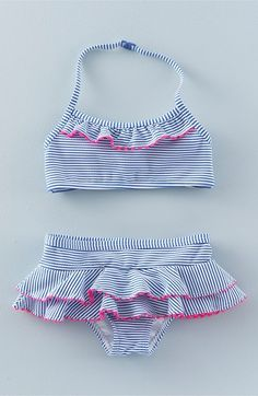 'Pretty Summer' Ruffle Two-Piece Swimsuit (Toddler Girls, Little Girls & Big…