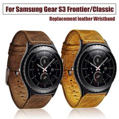 Leather Smart Watch Band Wrist Strap Bracelet For Samsung Gear S3 Frontier T
