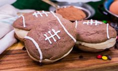 @cristinacooks makes Football Whoopie Pies for the game season! #football #whoopiepies #gameday #sweets #baking #dessert #homeandfamily #homeandfamilytv