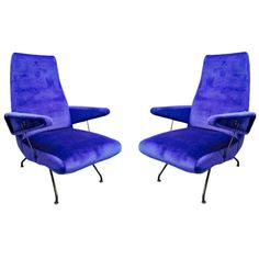 Pair of Armchairs Designed by Erba Giovanni, 1950 | 1stdibs.com