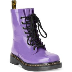 Dr. Martens Women's Drench Welly Rain Booties ($110) ❤ liked on Polyvore