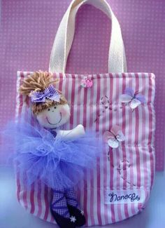 Specialty Lace tutu tote bag, embroidered with full name across the front, snap enclosure and 2 pockets - Medium or Large Sewing Hacks, Sewing Crafts, Sewing Projects, Sacs Tote Bags, Ballet Bag, Patchwork Bags, Denim Bag, Fabric Bags, Girls Bags