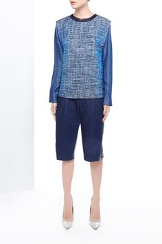 Picture of Iridescent Organza Boucle Crew-Neck