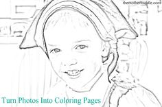 Turn Photos Into Coloring Pages GREAT IDEA Make A Family Book Add Humorous