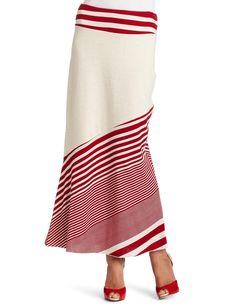 Testament Women's Stripe Maxi Skirt, Coral, Medium at Amazon Women's Clothing store: