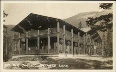 Emerald Lake Alberta Chalet - Byron Harmon #727 Real Photo Postcard