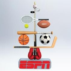 2011 Tree-mendous Sports ESPN Christmas Tree Hallmark Ornament
