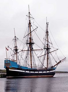 The Hector in Pictou Harbour - a replica of the ship our MacLeod ancestors sailed when they left Scotland for Nova Scotia.