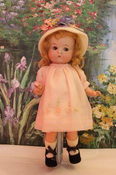 "9 1/2"" tall Armand Marseille's ""Just Me"" doll. Sleep eyes, Googly eyes!"