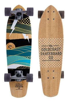 Goldcoast The Salvo Skateboard. Long Skateboards, Cruiser Skateboards, Skateboard Deck Art, Skateboard Design, Longboard Cruising, Cruiser Boards, Longboard Design, Skate Decks, Skate Surf