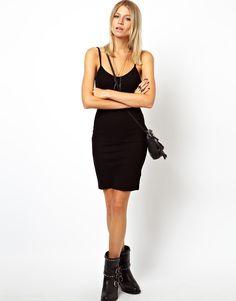 Image 4 ofASOS TALL Mini Cami Bodycon Dress In Rib