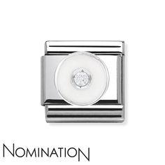 Nomination SilverShine White Circle Charm