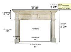 Wooden Fireplace Mantel Kit