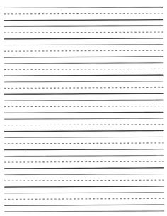 Second Grade Ruled Paper | Lined Paper for you