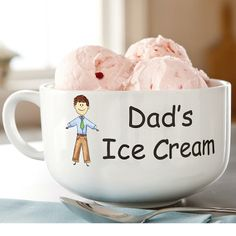 great gift for dad, not only because it's cute, but because it's written in comic sans, helping me realize my dream of having comic sans on everything i own