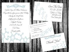 Wedding invites for the Chemistry geek