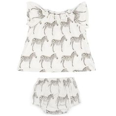 540f1ab230d MilkBarn Baby Organic Cotton Dress and Bloomer Set - Grey Zebra
