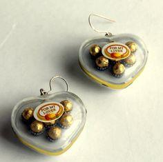 sterling silver food earrings chunky by SweetLakeJewelry on Etsy, €16.00
