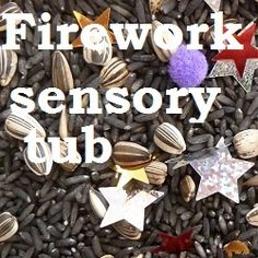 Firework sensory tub - - How to make a firework themed sensory tub for young children, great for celebrating Diwali, Bonfire Night, July or New Year's Eve. Diwali Fireworks, Pink Fireworks, Fireworks Design, Wedding Fireworks, July 4th, December, Bonfire Night Activities, Bonfire Night Crafts