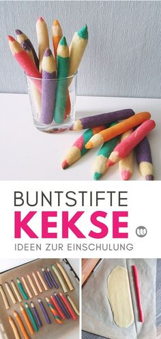 [Rezept] Crayon biscuits for schooling: Edible biscuit pencils- [Rezept] Buntstift-Kekse zur Einschulung: Essbare Keksstifte enrollment - Diy 2019, Food Humor, Memes Humor, Cookies Et Biscuits, First Day Of School, School Bags, Baby Food Recipes, Colored Pencils, Fondant