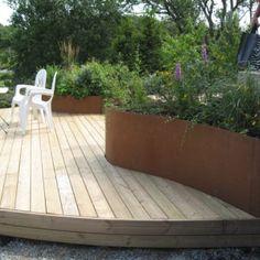 php 640 × 480 pixlar Garden Edging, Terrace Garden, Outdoor Rooms, Outdoor Gardens, Hot Tub Patio, Scandinavian Garden, Garden Stairs, Garden Makeover, Garden Boxes