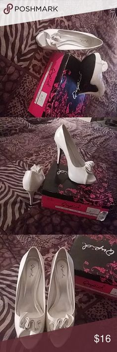 White High Heel Pumps Shining sexy heels Qupid Shoes Heels