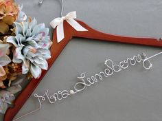 SALE Wedding Dress Hangers for Bride and Bridal by EricaMayMade, $25.00
