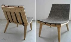 stylish but simple felt and wood chair