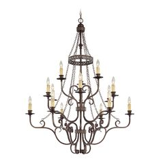 Jeremiah Brookshire Manor 23615-BA Chandelier | from hayneedle.com