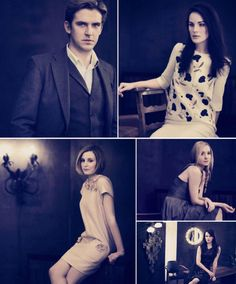 Downton Abbey - Dan Stevens, Michelle Dockery, Laura Carmichael, Joanne Froggatt and Jessica Brown-Findlay photographed by Julian Broad for InStyle UK, March 2012 Downton Abbey Cast, Laura Carmichael, Jessica Brown Findlay, Dowager Countess, Sister Photos, Dan Stevens, Michelle Dockery, Star Wars, Film Serie