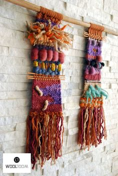 Inca - Hand woven wall hanging // weaving // telar decorativo made by WooL LooM Weaving Textiles, Weaving Art, Tapestry Weaving, Loom Weaving, Hand Weaving, Weaving Wall Hanging, Hanging Tapestry, Wall Hangings, Weaving Projects