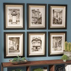 French Restoration Architecture Framed Art Monotone Prints Wall Decor Set/ 6 NEW Painting Frames, Painting Prints, Art Print, Black White Art, Wall Art Sets, Home Improvement Projects, Wall Collage, Shadow Box, Picture Frames