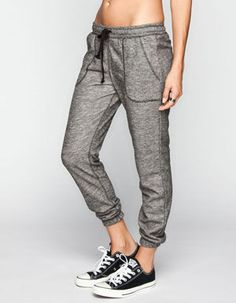 FULL TILT Marled French Terry Womens Jogger Pants 245988125 | Girl In Motion