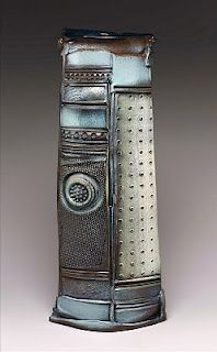 Sandy Blain - love the colors, textures in this tall piece.