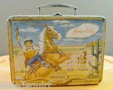 1954 Vintage Gene Autry Metal Lunchbox  Excellent  COLLECTOR Retro Lunch Boxes, Lunch Box Thermos, Cool Lunch Boxes, Metal Lunch Box, Vintage Tins, Retro Vintage, School Lunch Box, Out To Lunch, Cartoon Tv Shows