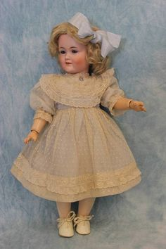 "16"" Antique Kley & Hahn German Bisque Character ""549"" Very Pretty Girl from turnofthecenturyantiques on Ruby Lane"