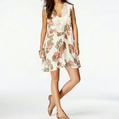 Free People Lace Trim Slip Dress This is a very lightweight and fun dress. NWT. Feel free to ask any questions. Purchased from Macy's. This listing is for the white one.  FINAL PRICE! CAN NOT LOWER. Free People Dresses