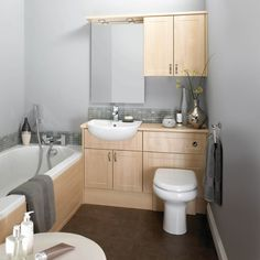 Good way to install wall hung toilet and mirrored cabinet for Small fitted bathrooms