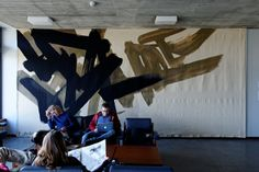 University of St. Giacometti, Museum, University, Tapestry, Night, Modern, Art, Art Gallery, Viajes