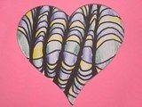Artsonia Art Exhibit :: Hearts (contour lines) grade 5