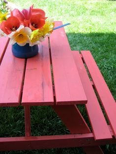 Paint picnic table.